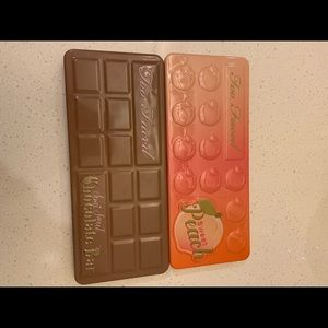 Too faced peach AND milk chocolate palettes